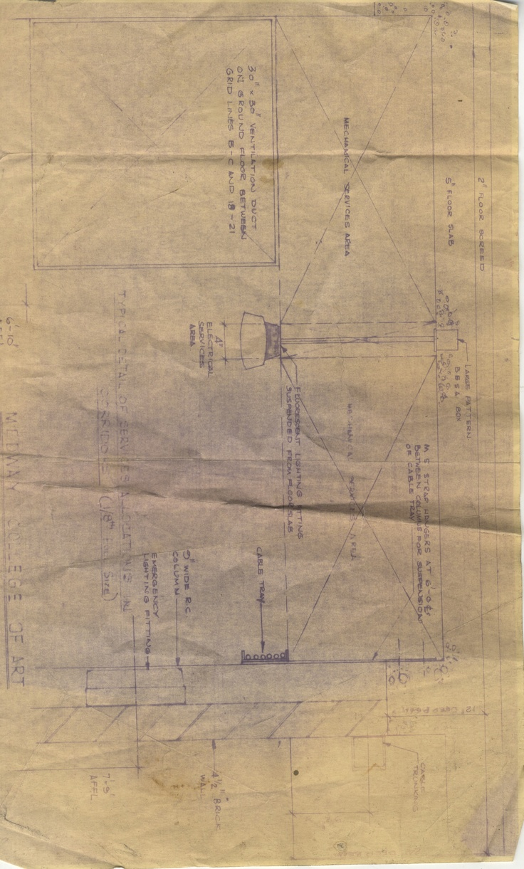 Architectural plan: Electrical services for Medway College of Art.