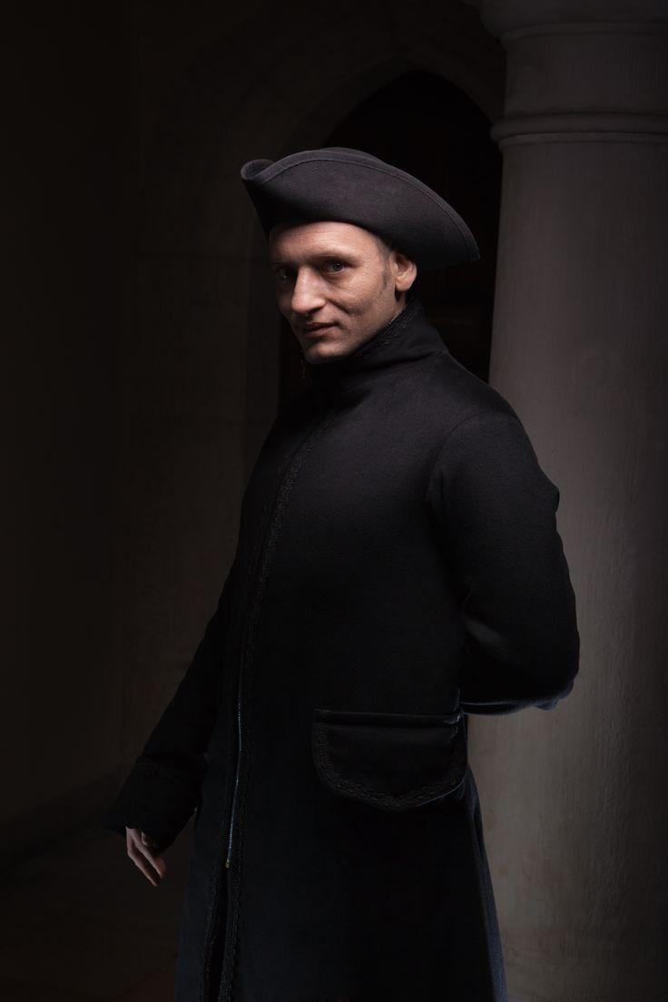Coat inspired by 18th c. redingot.