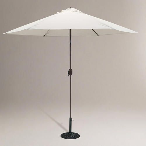 One of my favorite discoveries at WorldMarket.com: Natural 9-ft. Round Umbrella