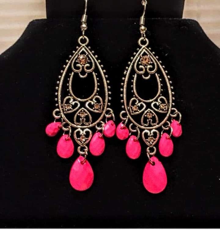 d51d781d3a8 Fashion Flirt - Pink | Paparazzi Earrings | Jewelry, Earrings, Fashion