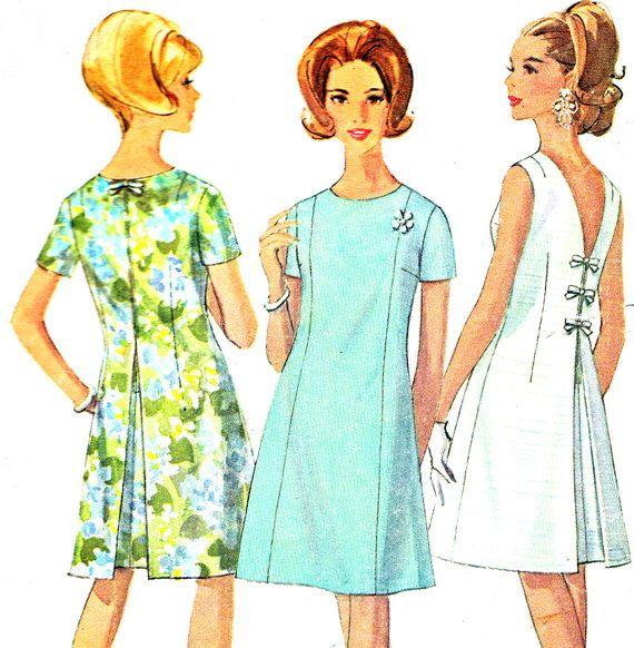 1960s Dress Pattern Simplicity 7147 Mod V Back A by paneenjerez, $14.00