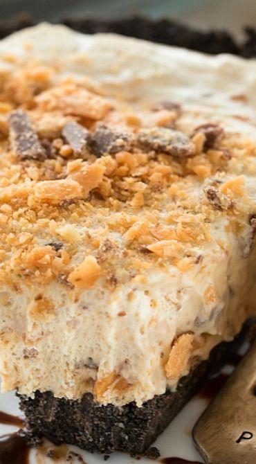 No Bake Butterfinger Ice Cream Pie
