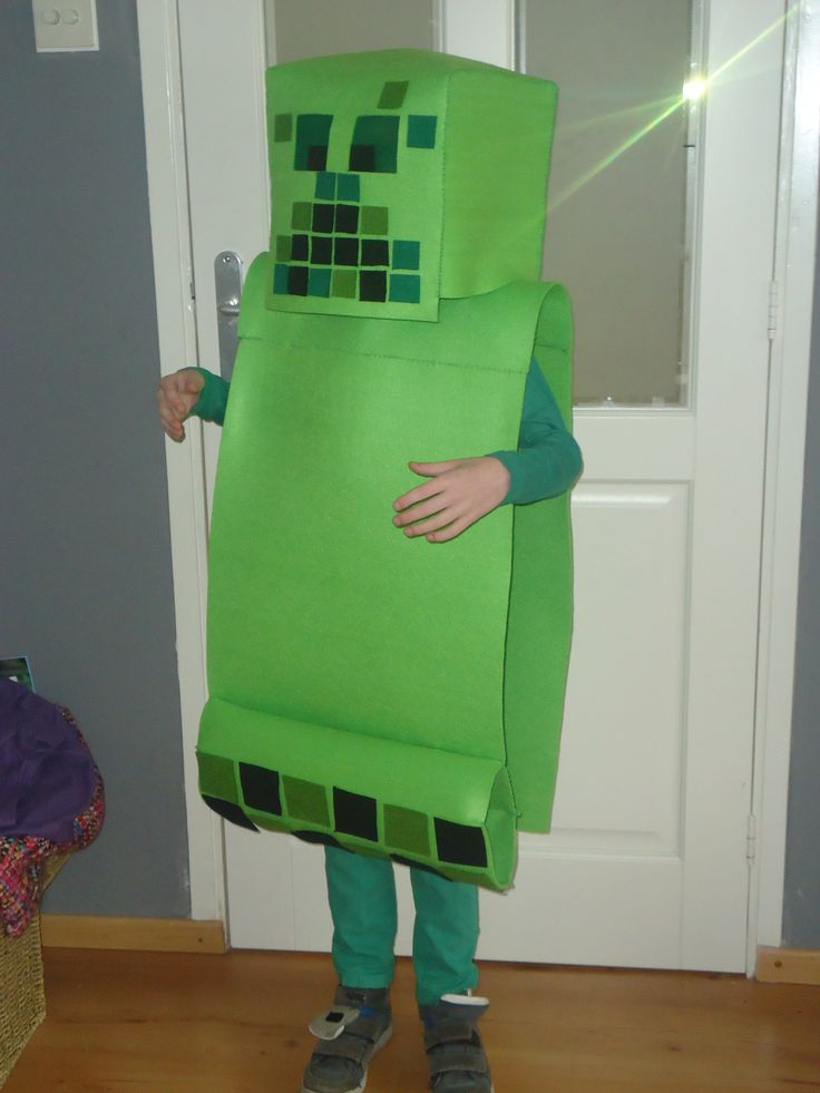 Minecraft creeper costume from felt made by me