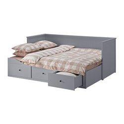 IKEA - HEMNES, Bedbank met 3 lades, Deze veelzijdige bedbank heeft maar liefst vier functies - bank, eenpersoonsbed, tweepersoonsbed en opbergoplossing.