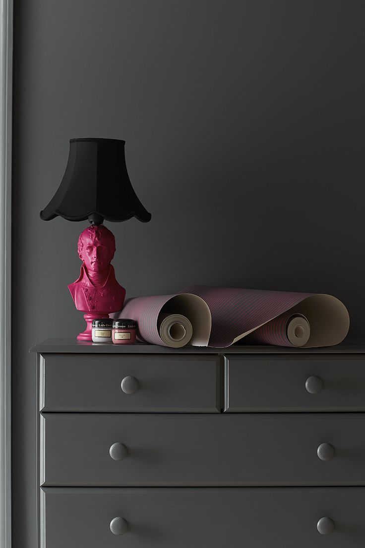 Ombre¦ü Plain - Carmine and Scree 227 Little Greene's new wallpaper collection 'Painted Papers' available 23 January 2015. — at Studio Interiors.