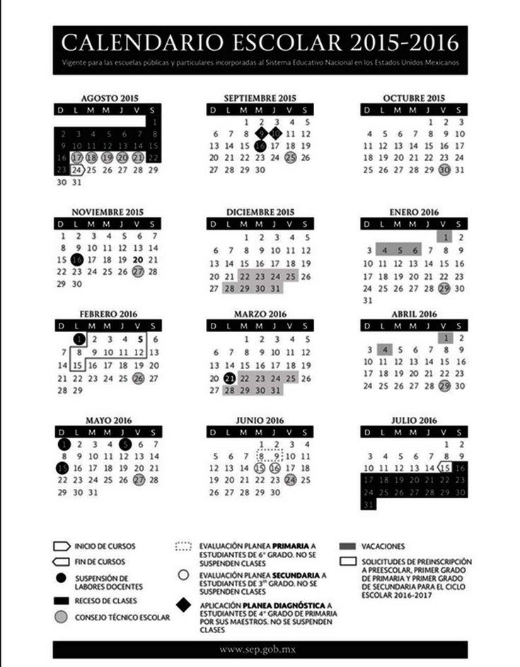La SEP difunde el calendario escolar 2015-2016