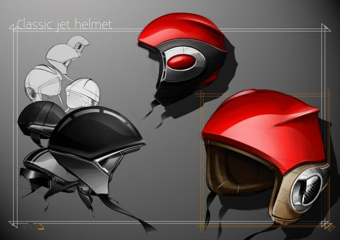 Industrial Design sketches by Erwan BESANCON. Nice example of reflective plastic.
