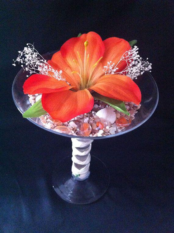 Fun Oversized Martini Glass Centerpiece by PinkSandEvents on Etsy, $40.00