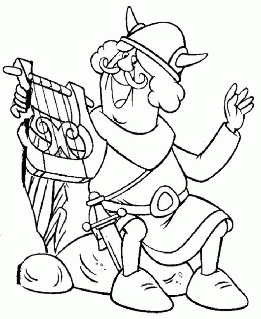 7 Fascinating Vicky the Viking Coloring Pages for 4 Years