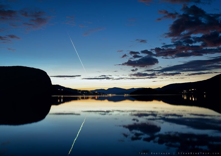 5-year bike trip, day 72: Even meteors prefer to land in Norway.