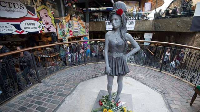 A life-size statue of Amy Winehouse has been unveiled in Camden, north London, on what would have been the late singer's 31st birthday. The statue was sculpted by artist Scott Eaton and will now have a permanent residence at the Stable Market in Camden, one of Winehouse's most treasured spots.