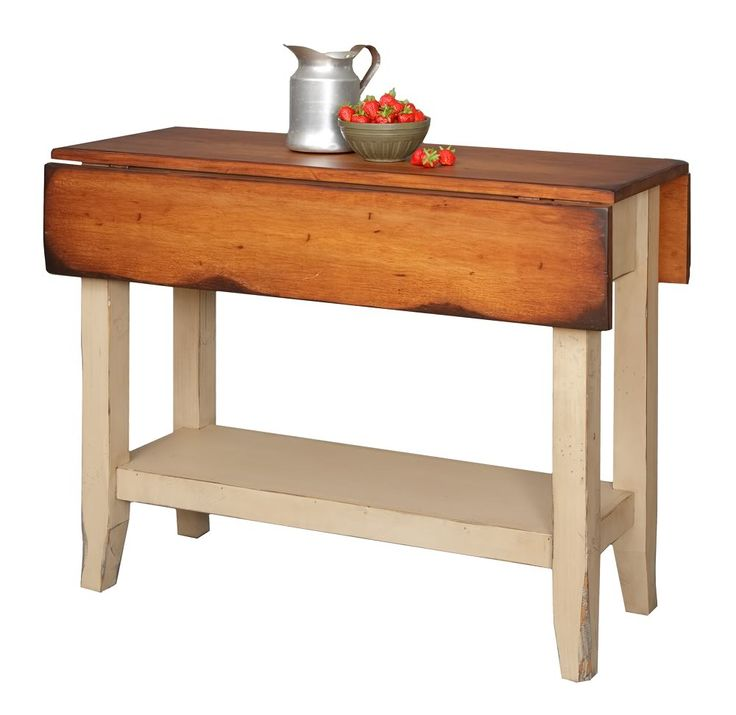 Kitchen Side Table: Primitive Kitchen Island Table Small Drop Side Farmhouse