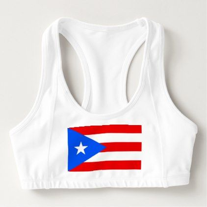 Women's Alo Sports Bra with flag of Puerto Rico - womens sportswear fitness apparel sports women healthy life