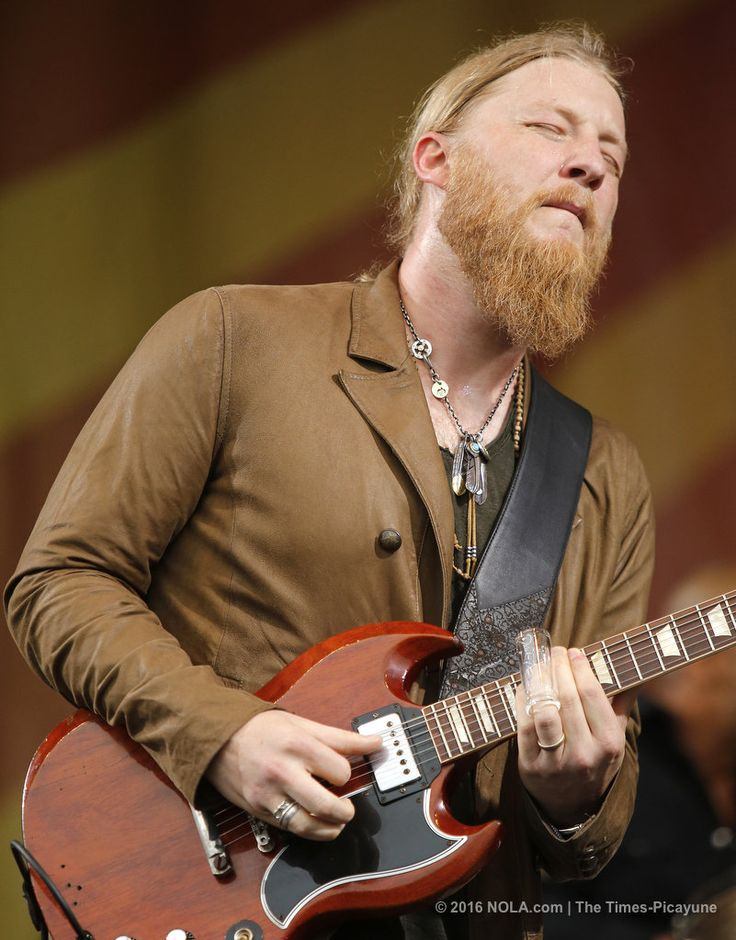Derek Trucks of The Tedeschi Trucks Band plays on the Acura Stage at Jazz Fest on Thursday, April 28, 2016 in New Orleans