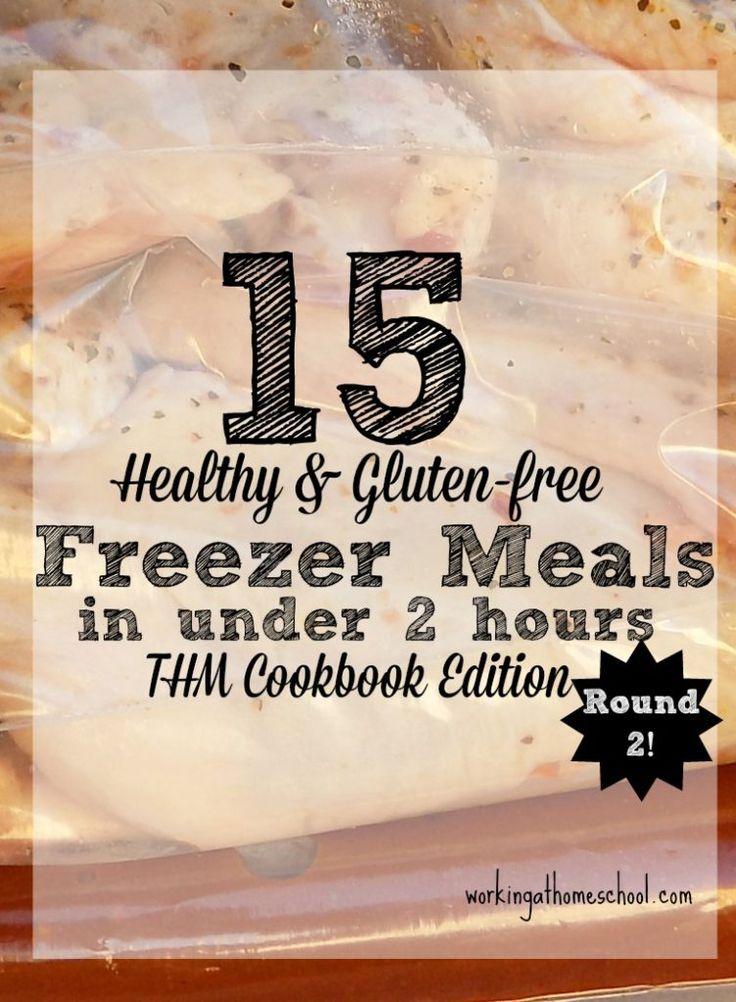 WorkingAtHomeschool.com shows you how to make 15 Trim Healthy Mama Freezer Meals In Under 2 Hours.