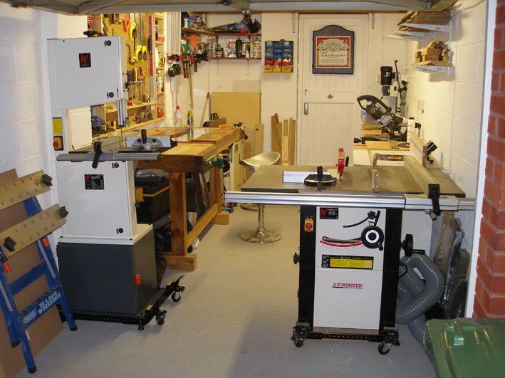 One Car Garage Workshop Layout - by PapaFran @ LumberJocks.com ~ woodworking community