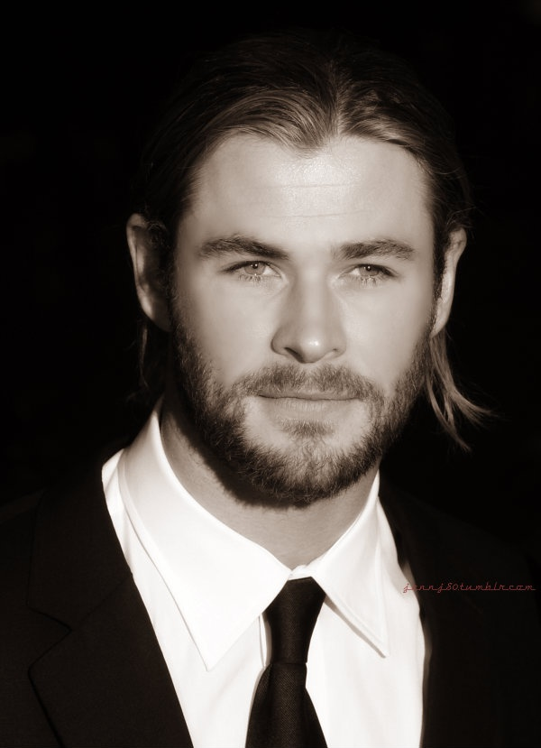 CHRIS HEMSWORTH - Now he could be Christian Grey or Caleb from 'the Dark Duet' series.