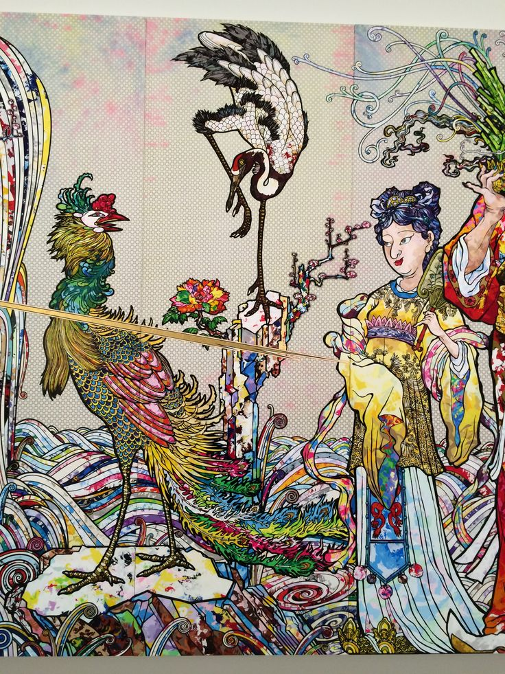 IN THE LAND OF THE DEAD, STEPPING ON THE TAIL OF A RAINBOW - 2014 by TAKASHI MURAKAMI at THE BROAD Museum - LOS ANGELES
