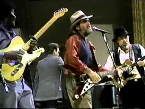 """Just try and beat this!  """"Further On Down The Road"""" .. Three of the best electric blues guitarists: Lonnie Mack, Albert Collins & Roy Buchanan.  Lonnie (a mentor of Stevie Ray Vaughan) plays an unusual Gibson Flying V with Bigsby.  Both the others are playing Fender Telecasters."""