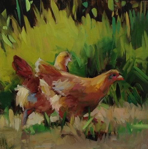 "Daily Paintworks - ""Chicken Run"" - Original Fine Art for Sale - © Patti McNutt"