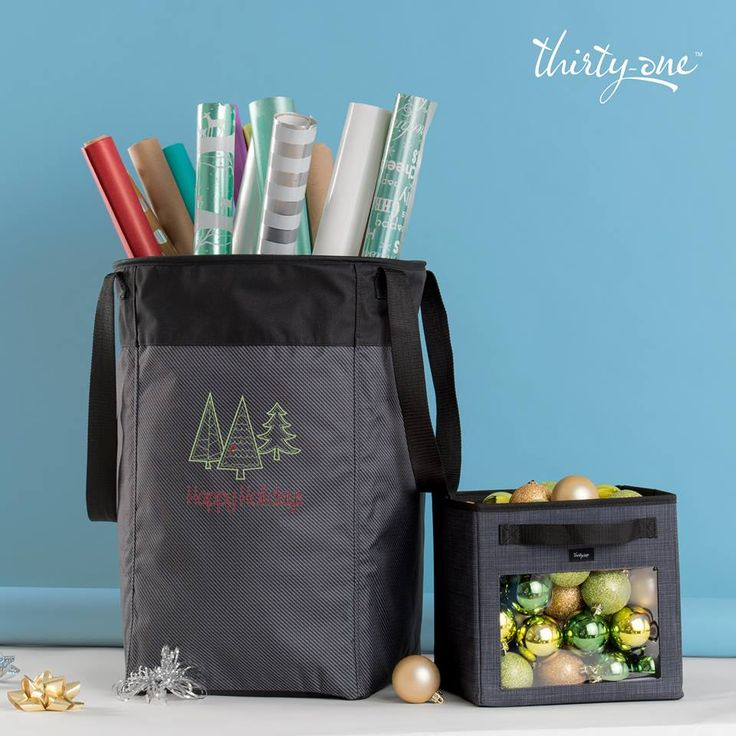 Organize your holiday wrapping paper, bows, tape or decorations in one of our gorgeous totes! www.mythirtyone.ca/endlysscreations