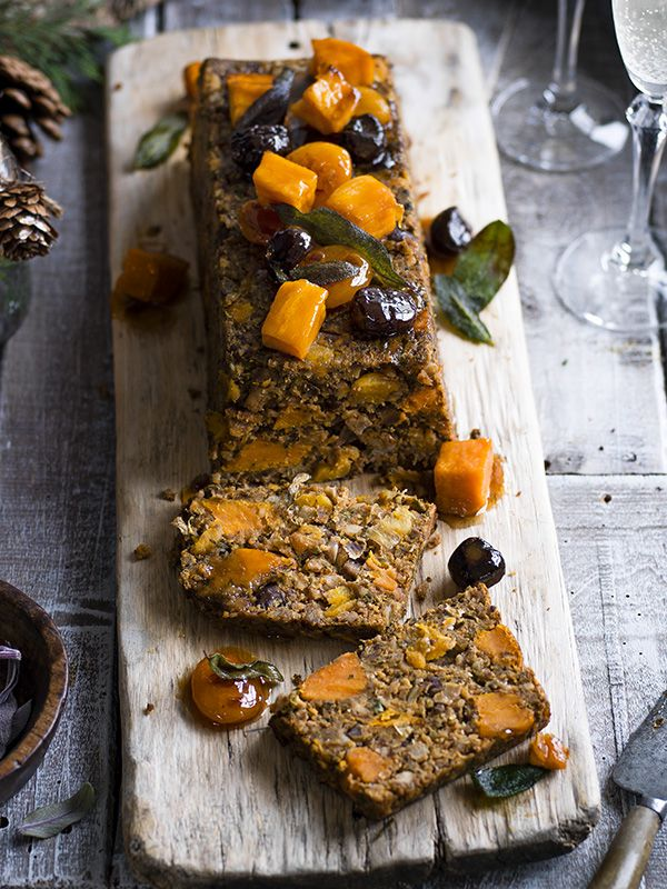 Sweet potato, chestnut and apricot loaf - Everyone will love this, you can make it ahead and it slices like a dream
