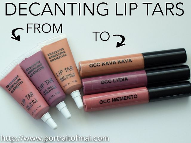 Decanting Your Lip Tars from the Squeeze Tube into Lipgloss Tubes (DIY OCC Lip Tar RTW)