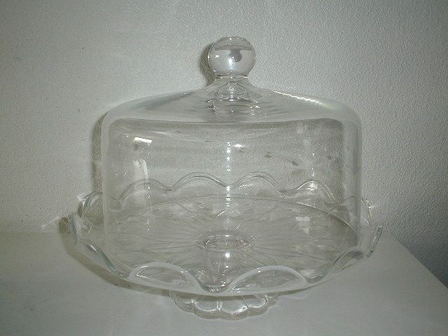 Vintage Princess House Cake Plate W Dome In Box Crystal
