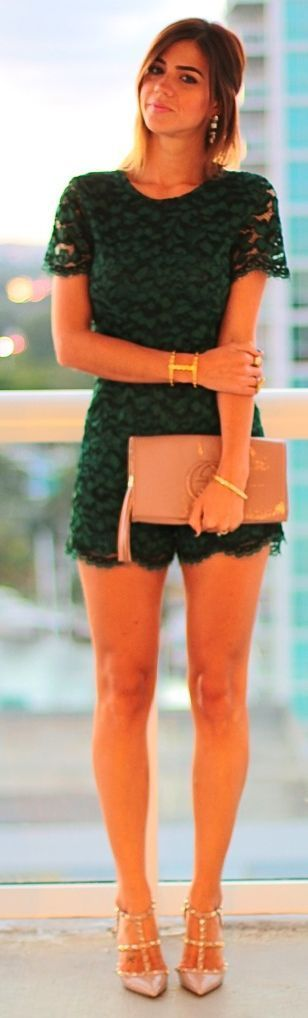 I could see myself wearing something like this if the romper hit my waist right. I really like the color and the idea of a formal romper.