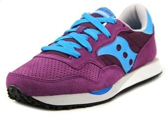 Saucony Dxn Trainer Women Round Toe Canvas Purple Sneakers.