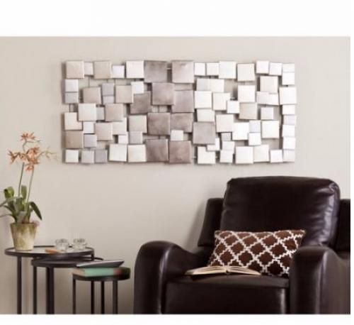 Metal-Wall-Decor-Art-Sculpture-Home-Office-Geometric-Modern-Unique-Abstract-Room
