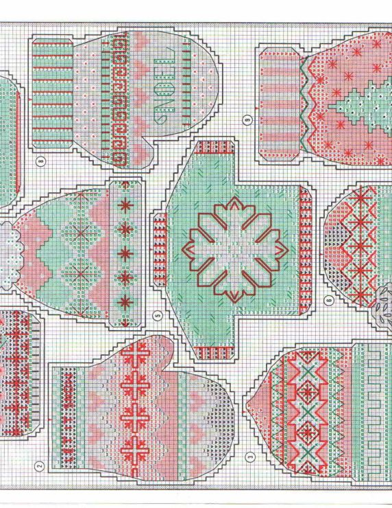 Warm & Cosy Ornaments, plastic canvas, chart, page 4/5
