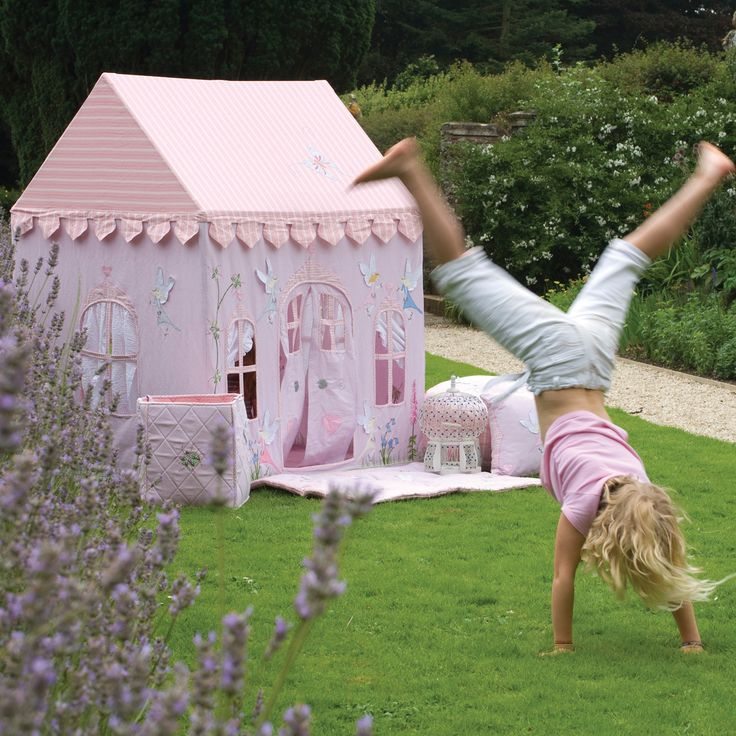 Fairyland Playhouse- fabric play tent / indoor playhouse & 10 best Girlsu0027 Playtime images on Pinterest | Card table playhouse ...