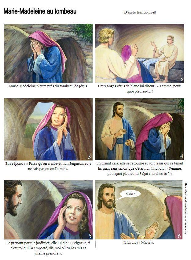 BD : Jésus ressuscité apparaît aux femmes (la résurrection) - KT42 portail pour le caté