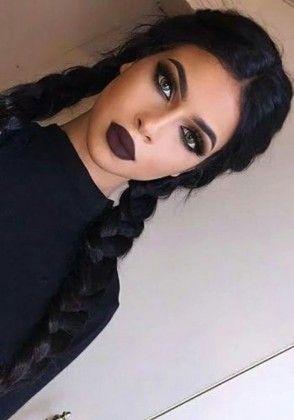 black long hair + braid                                                                                                                                                                                 More