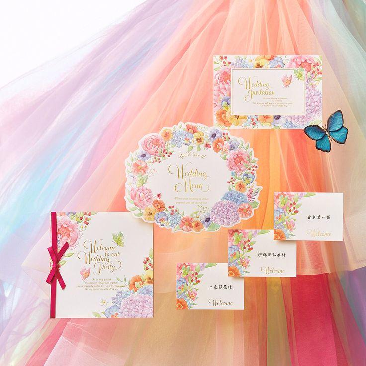 【ペーパーアイテム❤️】 5/31、伊藤羽仁衣デザイン✨ ペーパーアイテムリリース✨ ~パレット~ designer伊藤羽仁衣らしいカラフルでお花いっぱいのデザイン。つがいになると生涯添い遂げると言われている蝶をモチーフに。 #thehany #thehany2017 #wedding #weddingdress #colordress #伊藤羽仁衣 #ウエディングドレス #カラードレス #ドレス #ドレスショップ #新作ドレス #パステルドレス #ドレス試着 #お色直し #結婚 #結婚式 #花嫁 #ドレス選び #プレ花嫁 #結婚準備 #青山 #福岡 #大阪 #仙台 http://gelinshop.com/ipost/1515809492130138793/?code=BUJPLO1lQqp