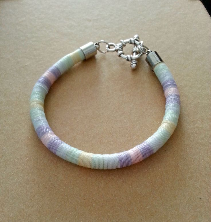 Innocence Pastel Thread Wrap Bracelet