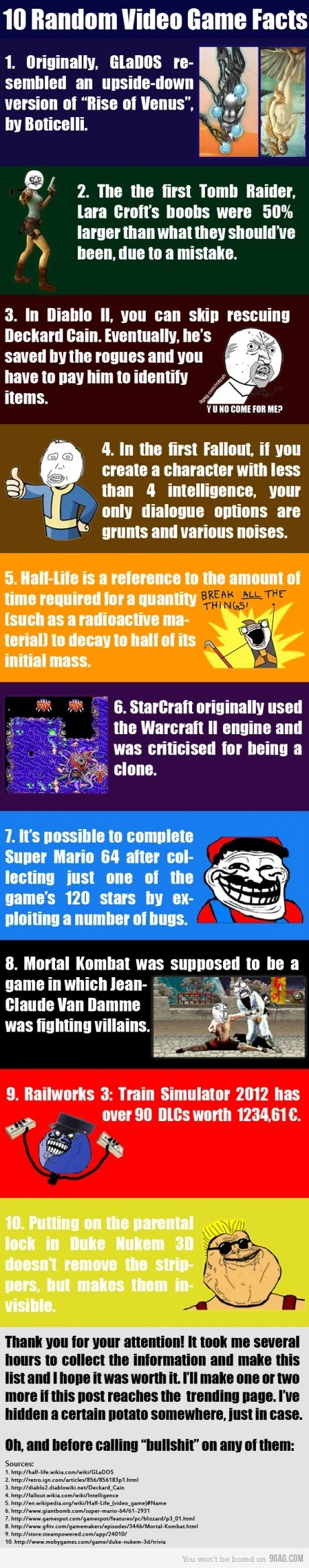 10 True random video game facts