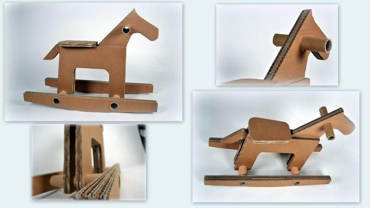 Cavallo a dondolo in cartone riciclato, made in ScartuP