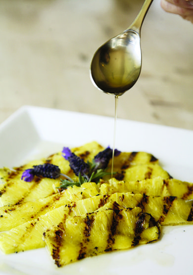 Vegetarian Wedding Fare: Pineapple Carpaccio with Lavender Honey - Marriage.com Blog