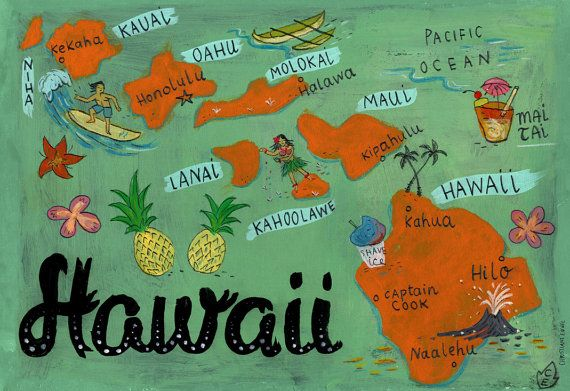 Vintage Hawaii postcard. #hawaii #honeymoon