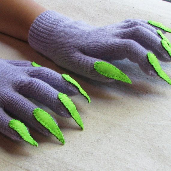 Would go well with monster costume and keep the hands warm.