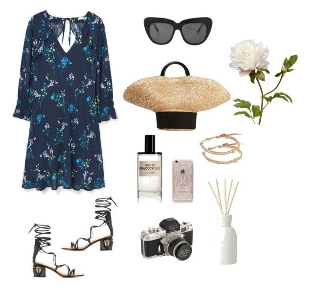 Spring Party by stephc on Polyvore featuring MANGO, Valentino, Eugenia Kim, Chan Luu, Illesteva, Rifle Paper Co, D.S. & DURGA and The White Company