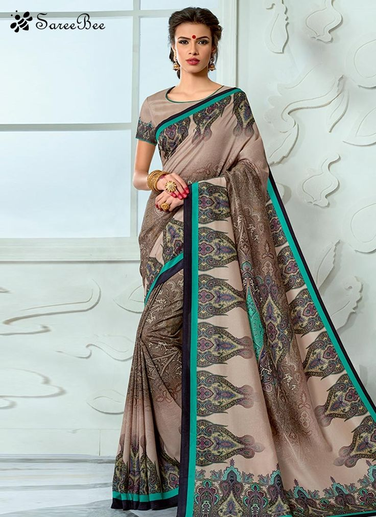 Dainty Tussar Silk Print Work Designer Traditional Saree  This pretty piece is a fairy tale that begins to unfold as you reveal your beauty in it. Look ethnic in this affluent multi colour tussar silk designer traditional saree saree. This lovely attire is looking extra beautiful with embelishment of print work. Comes with matching blouse.