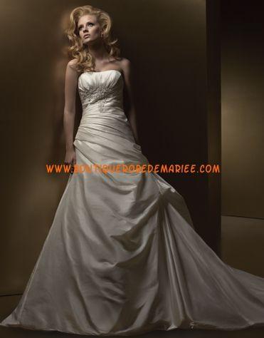 Robe de mariée bustier zip avec traîne