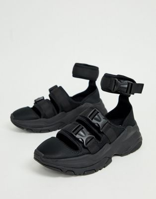 35d785d6ec DESIGN trainer sandals in black with chunky sole в 2019 г. | Asos ...