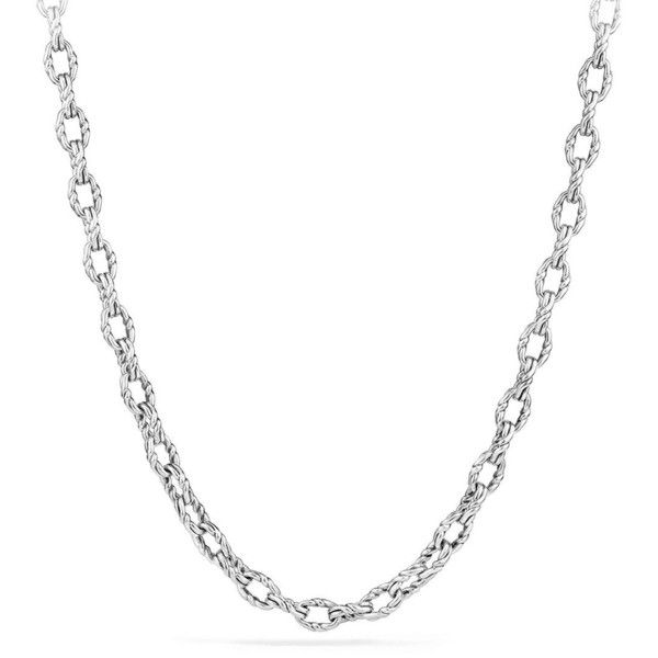 David Yurman The Chain Continuance Sterling Silver Chain ($900) ❤ liked on Polyvore featuring men's fashion, men's jewelry, men's necklaces, mens necklaces, mens watches jewelry, mens chain necklace, mens sterling silver chains and mens sterling silver chain necklace