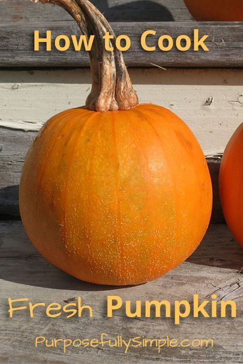 How to Cook Fresh Pumpkin - Wondering how to cook fresh pumpkin? It's easy. Find out the best way to cook a pumpkin for making homemade pumpkin puree. www.purposefullys... www.purposefullys... www.purposefullysimple.com