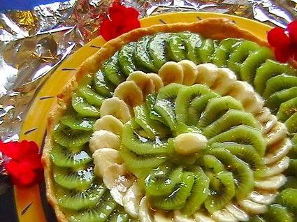 Tarte kiwis-bananes