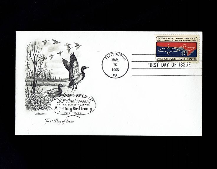 US 1306 Migratory Bird Treaty Mar 16, 1966 Pittsburgh PA First Day Cover lot #F1306-1 by VicsStamps on Etsy